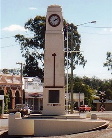Goomeri War Memorial Clock - Tourism Caloundra