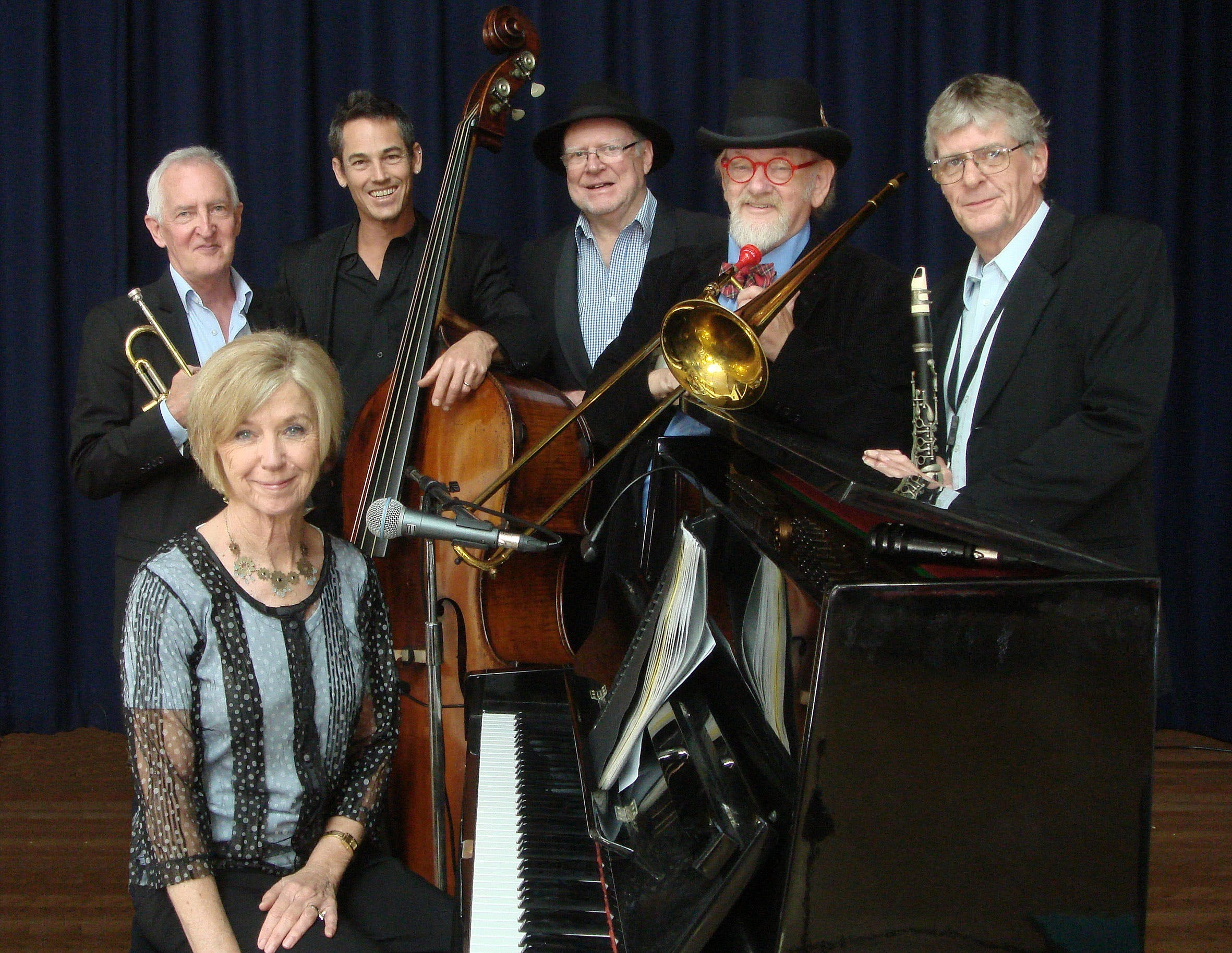 The Caxton Street Jazz Band in the Swigmore Hall at Robert Channon Wines - Tourism Caloundra