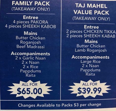 Taj Mahal Indian Restaurant - Tourism Caloundra
